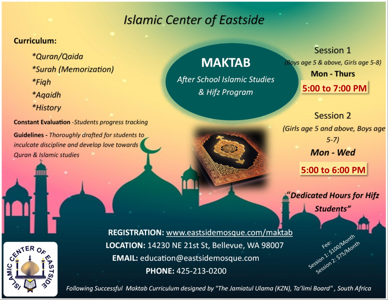 Islamic Center of Eastside (Bellevue Masjid)
